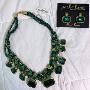 Two piece necklace and earrings set